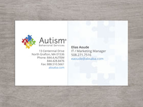 Autism Behavioral Services Business Card - Preview