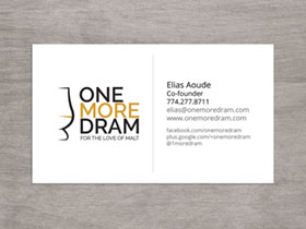 One More Dram Business Card - Preview